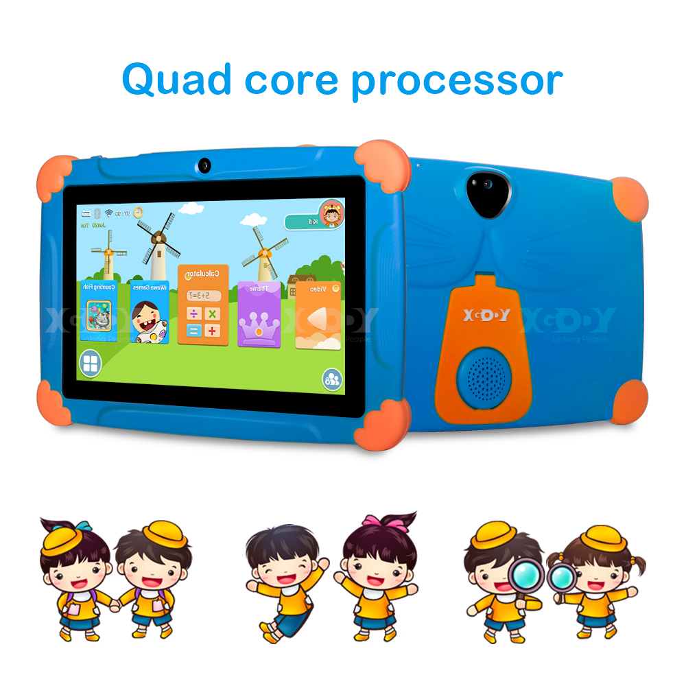 """XGODY 2020 7"""" HD Tablet PC 16GB Android 8.1 Oreo Quad-core Dual Camera For Kids"""