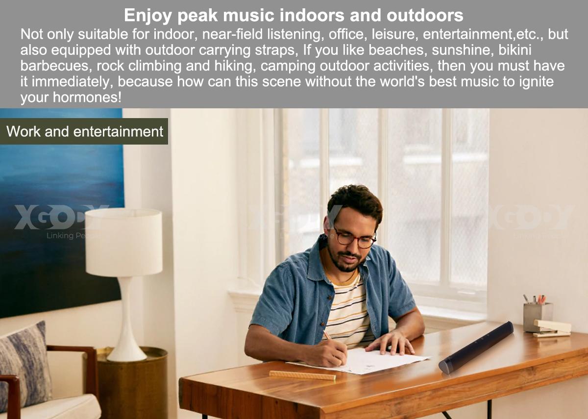 Portable Wireless Bluetooth 5.0 Sound Bar Home Theater TV Speaker HIFI Surround