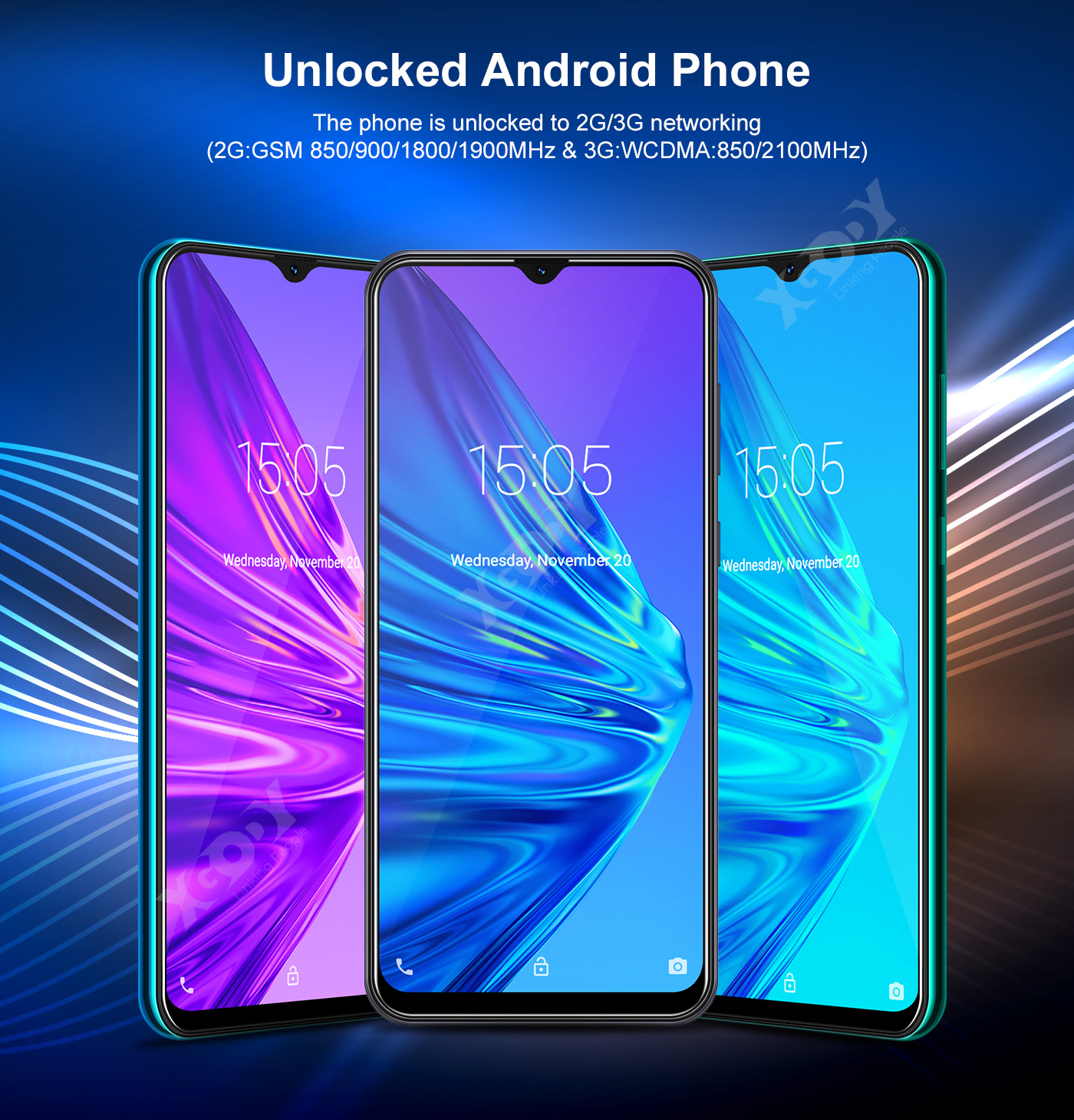 6.6 In A50 Android 9.0 Cell Phone Factory Unlocked