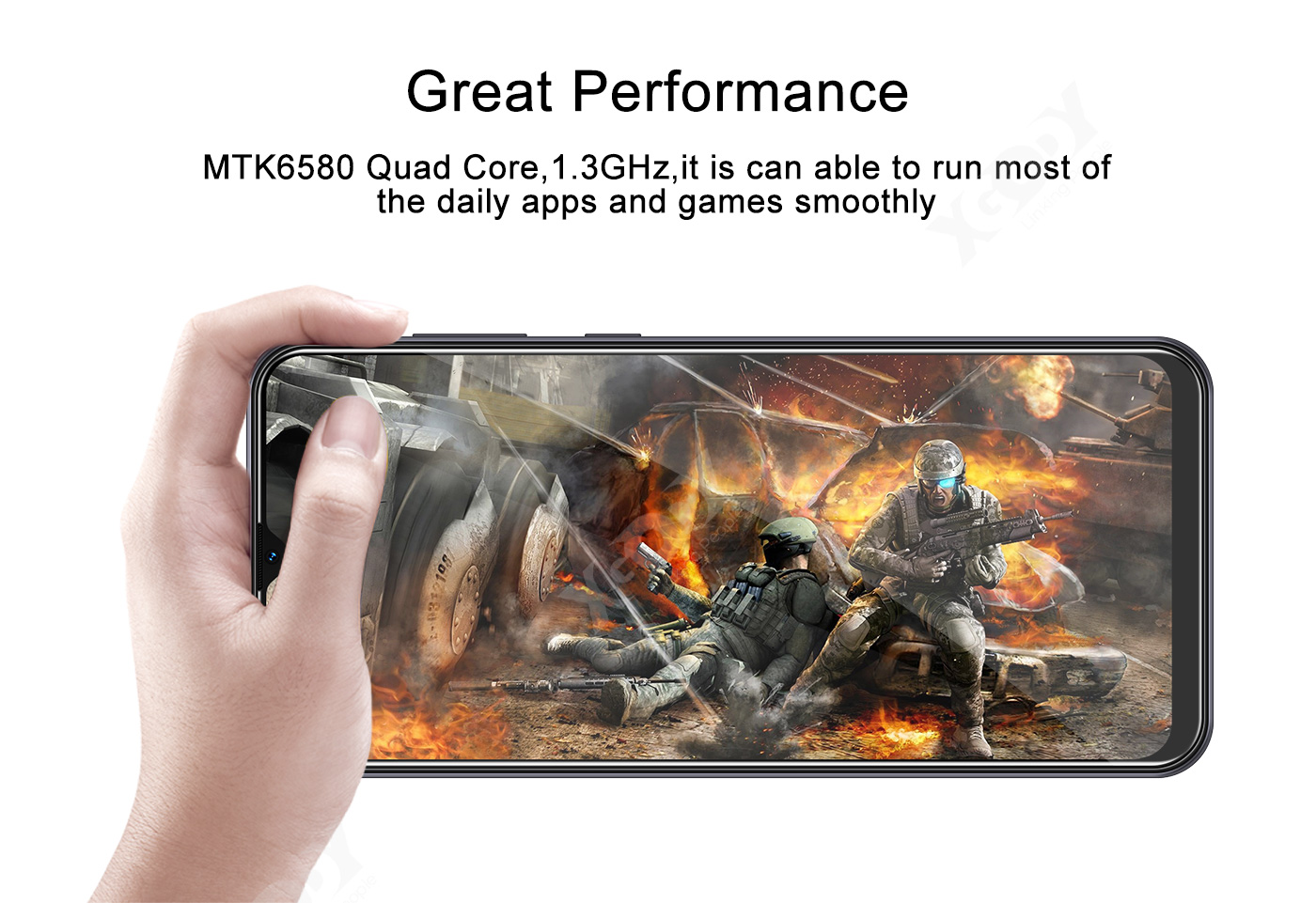 Cheap 6.6 Inch Android Smartphone Unlocked Mobile Phone Dual SIM Quad Core New