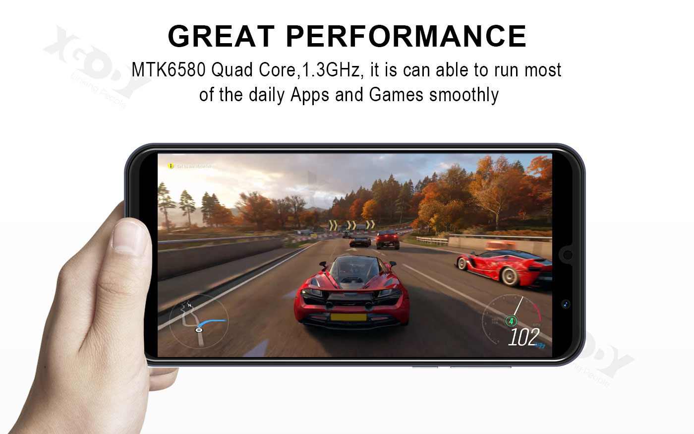 2020 Large Screen Android 8.1 Factory Unlocked 4Core Smart Mobile Phone 5MP  4GB