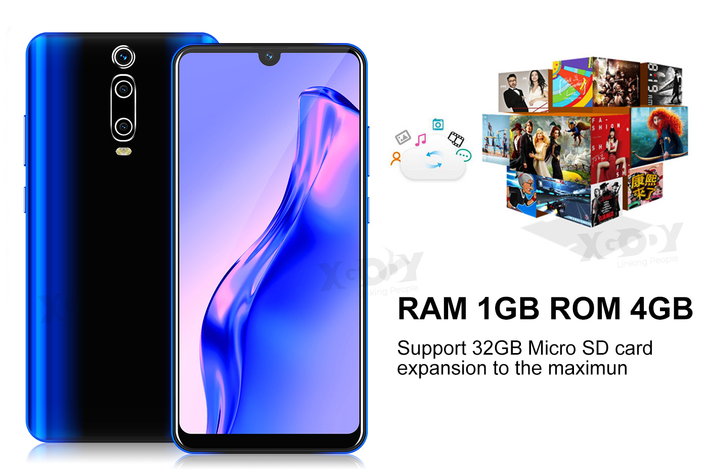2020 New 6.3 inch Android 9.0 Unlocked Cell Phone Smartphone Quad Core Dual SIM