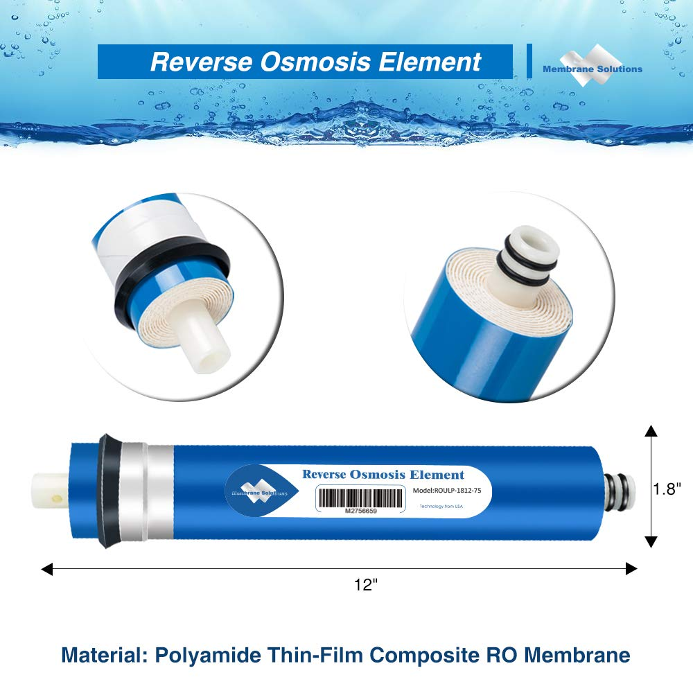 Tap Water Cleansing Filter RO Membrane Household Water Purify 1812-24 GPD